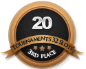 3rd in twenty 32 player tournament