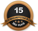 3rd in fifteen 64 player tournament