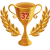 3rd in ten 32 player tournament