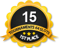 1st in fifteen 64 player tournament
