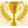 1st in twenty-five 4 player tournament