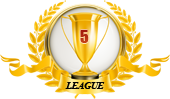 1st place in five leagues