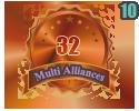 3rd in ten Multi Alliances 32 tournament