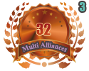 3rd in three Multi Alliances 32 tournament
