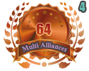 3rd in four Multi Alliances 64 tournament