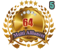 1st in five Multi Alliances 64 tournament