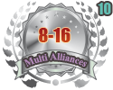 2nd in ten Multi Alliances 8-16 tournament