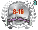 2nd in three Multi Alliances 8-16 tournament