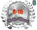 2nd in five Multi Alliances 8-16 tournament