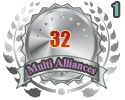 2nd in a Multi Alliances 32 tournament