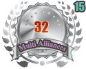 2nd in fifteen Multi Alliances 32 tournament