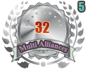 2nd in five Multi Alliances 32 tournament