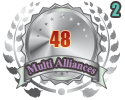 2nd in two Multi Alliances 48 tournament