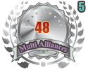 2nd in five Multi Alliances 48 tournament