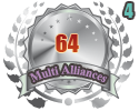 2nd in four Multi Alliances 64 tournament