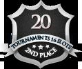 2nd in twenty 16 player tournament
